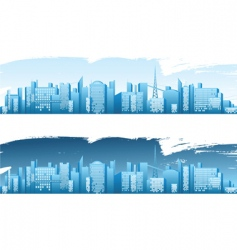 big city vector image vector image