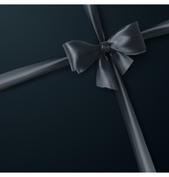 Black bow and ribbon vector