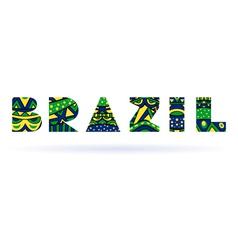 Brazil Title vector image