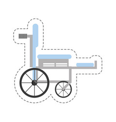 Cartoon wheelchair medical equipment icon vector