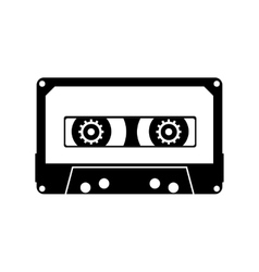 Cassette black icon vector image vector image