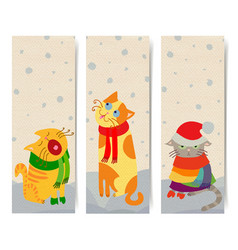 Cat banners vector