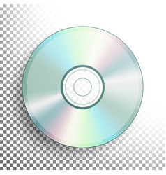 cd dvd disc realistic compact disc vector image vector image