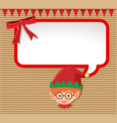 Christmas card design with little elf vector