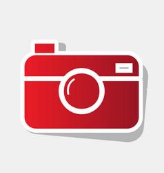 digital photo camera sign new year vector image vector image