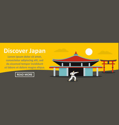 discover japan banner horizontal concept vector image