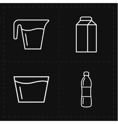 four modern flat bar icons vector image
