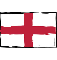 Grunge england flag or banner vector