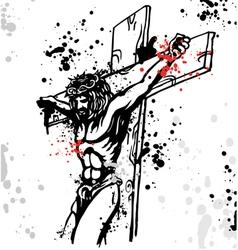 Jesus ink vector