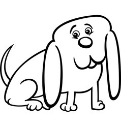 little dog cartoon for coloring vector image vector image