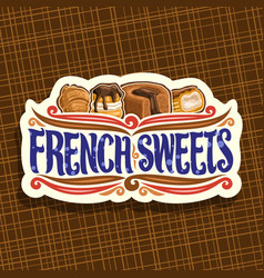 Logo for french sweets vector