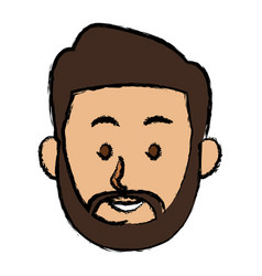 man character face avatar male cartoon vector image
