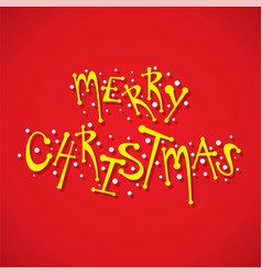 merry christmas greeting card design vector image