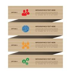 Modern minimal vintage cardboard style social vector image vector image