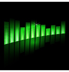 Music equalizer beam on black background vector