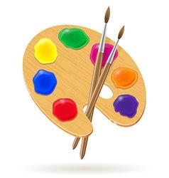Palette for paints 02 vector