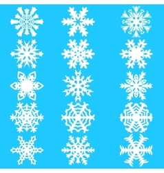 Set snowflakes icons on white background vector image vector image