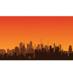 silhouette of a big city vector image vector image
