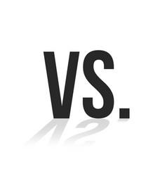 Simple black vs icon with shadow vector