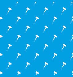 Sledgehammer pattern seamless blue vector