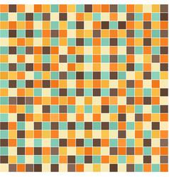 Square retro pattern seamless vector