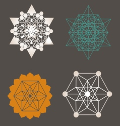 Star Tetrahedron designs vector image