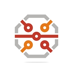 System logo connecting design icon element vector