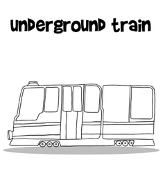 Underground train with hand draw vector