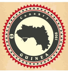 Vintage label-sticker cards of Guinea vector image