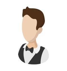Waiter garcon cartoon vector image