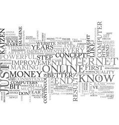 What the hell is kaizen text word cloud concept vector