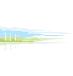 Wind Generator Landscape vector image vector image
