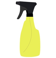 Yellow spray bottle vector image vector image