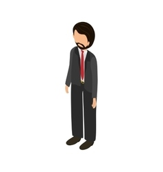 Young Man body complete vector image