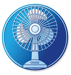 Table fan button vector