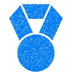 Medal grainy texture icon vector