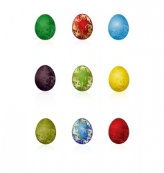 Easter eggs with pattern vector