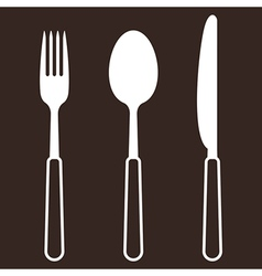 Knife fork and spoon vector