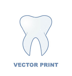 T-shirt print with the tooth for a dental clinic vector