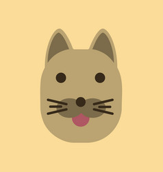 Flat icon on background cartoon cat vector