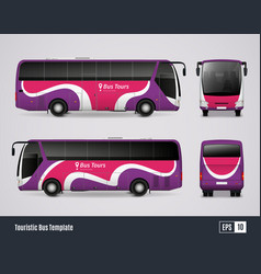 touristic bus template in realistic style vector image