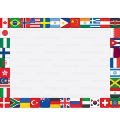 background with flags frame vector image