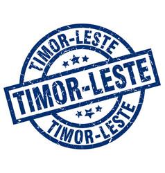 Timor-leste blue round grunge stamp vector