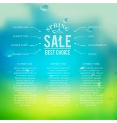 Spring sale background with text vector