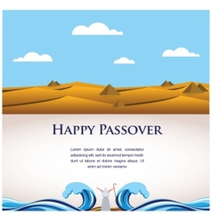 happy Passover- Out of the Jews from Egypt vector image