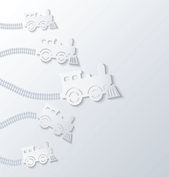 Steam locomotives move forward vector