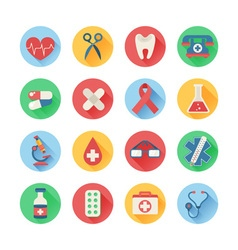 Medical icons in trendy flat style vector