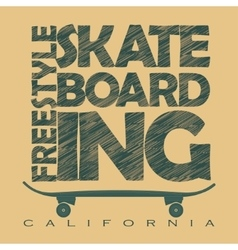 Skateboarding t-shirt graphics vector