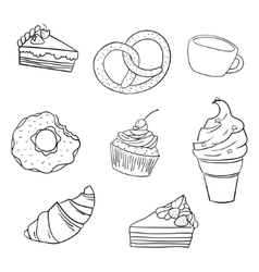 Sweetness black and white vector image