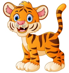 Happy tiger cartoon vector